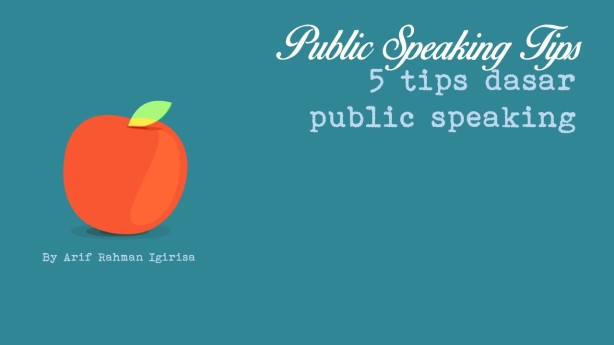 Tips public speaking
